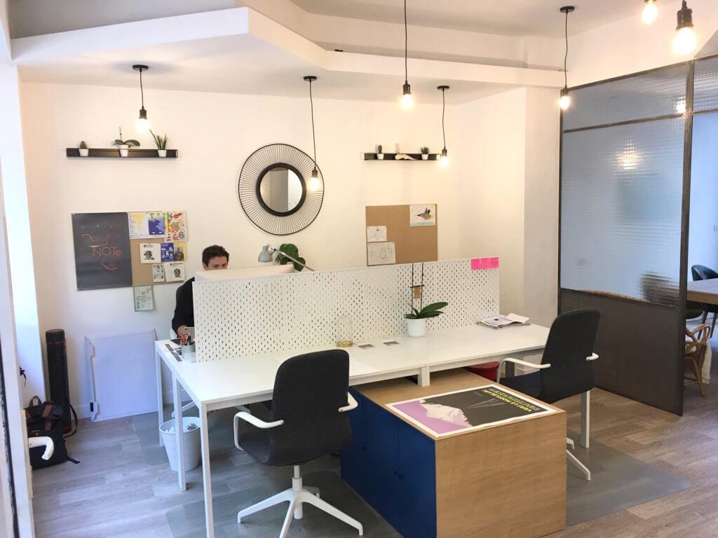 open space de l'espace de coworking
